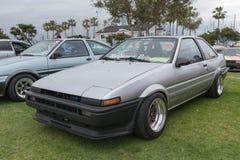 在显示的丰田卡罗拉1985年 免版税图库摄影