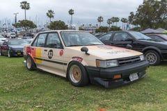 在显示的丰田卡罗拉1986年 库存图片