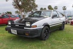 在显示的丰田卡罗拉1986年 免版税库存图片