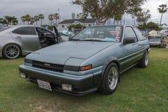 在显示的丰田卡罗拉1985年 免版税库存照片