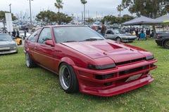 在显示的丰田卡罗拉1985年 库存照片