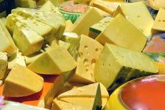 在显示的乳酪 免版税库存照片