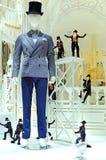 在显示的人的衣物 免版税库存图片