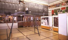 在显示的农场设备在孟菲斯棉花博物馆 免版税库存图片