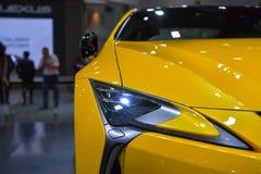 在显示的凌志LC 500汽车在11月28日第35泰国国际马达商展 库存照片