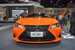 在显示的凌志RC 300汽车在11月28日第35泰国国际马达商展 图库摄影