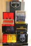 在显示的卡马乔雪茄在雪茄在蓬塔Cana购物 库存图片