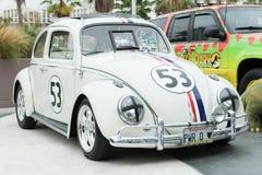 在显示的大众Herbie甲虫 免版税库存图片