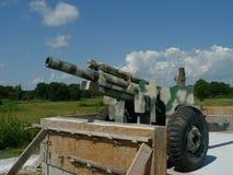 在显示的大炮在VFW岗位4518, Sallisaw, OK 免版税图库摄影