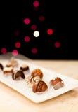 在显示的巧克力 免版税图库摄影