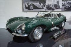 在显示的捷豹汽车XKSS 1956年汽车在LA车展。 库存照片
