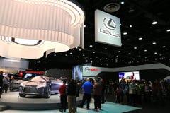 在显示的新的2018年凌志车在北美国际汽车展 库存照片