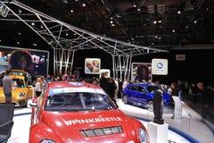 在显示的新的2018年大众车在北美国际汽车展 免版税库存图片