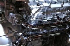 在显示的新的2018 BMW引擎在北美国际汽车展 库存图片