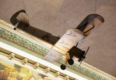 在显示的木模型飞机在孟菲斯棉花博物馆 免版税库存图片