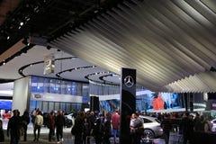 在显示的汽车manufacrters在北美国际汽车展 免版税库存图片