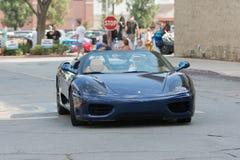 在显示的法拉利360摩德纳汽车 免版税库存图片