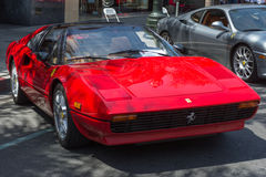 在显示的法拉利308汽车 免版税库存图片