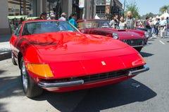在显示的法拉利365 GTB4汽车 库存图片