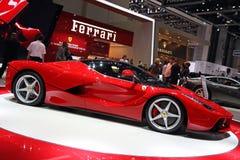 法拉利LaFerrari -日内瓦汽车展示会2013年 免版税库存图片