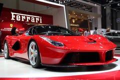 法拉利LaFerrari -日内瓦汽车展示会2013年 库存图片