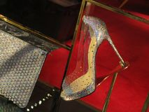 在显示的细鞋跟鞋子在悉尼NSW,澳大利亚 免版税库存图片