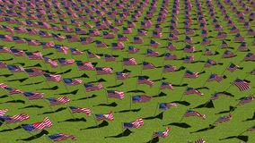 在显示的美国国旗为阵亡将士纪念日 库存例证