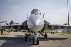 在显示的航空器在樟宜,新加坡 库存照片