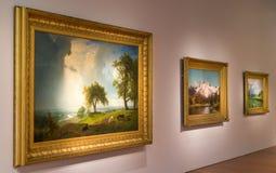 在显示的艺术在De Young Museum里面在旧金山 图库摄影