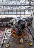 在显示的阿波罗登月舱 免版税库存图片