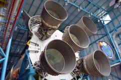 在显示的阿波罗V11火箭在肯尼迪航天中心 库存图片