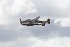 在显示的洛克希德P-38闪电 库存照片