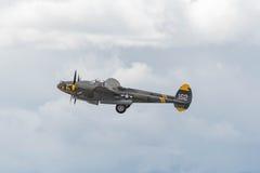 在显示的洛克希德P-38闪电 免版税库存照片