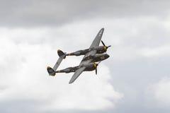 在显示的洛克希德P-38闪电 免版税图库摄影