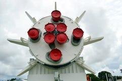 在显示的水星雷石东火箭在肯尼迪航天中心 库存图片