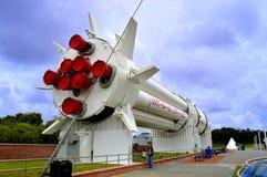 在显示的水星雷石东火箭在肯尼迪航天中心 库存照片