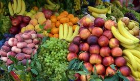 在显示的水果市场 免版税图库摄影