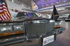 在显示的总统汽车队在罗纳德・里根总统图书馆和博物馆, Simi谷,加州 免版税库存图片