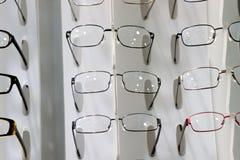 在显示的玻璃 免版税库存图片
