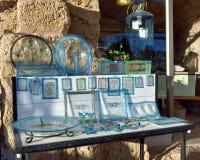 在显示的以色列纪念品 库存图片