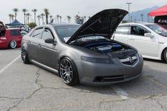 在显示的Acura TL 库存照片