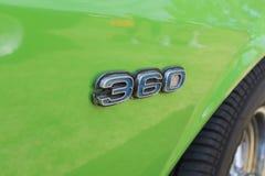 在显示的AMC AMX 360象征 库存照片