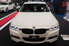 在显示的BMW 320d体育 库存照片