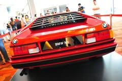 在显示的BMW M1经典跑车在BMW世界2014年 免版税库存图片