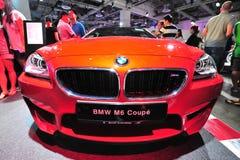 在显示的BMW M6小轿车在BMW世界2014年 库存照片