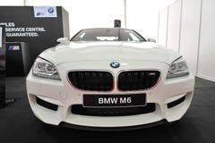 在显示的BMW M6 Gran小轿车在新加坡游艇展示2013年 库存照片
