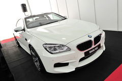 在显示的BMW M6 Gran小轿车在新加坡游艇展示2013年 库存图片