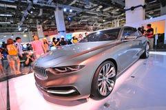 在显示的BMW Pininfarina盛大Lusso小轿车概念在BMW世界2014年 库存照片