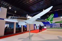 在显示的Comac C919地方喷气机模型在新加坡Airshow 免版税图库摄影