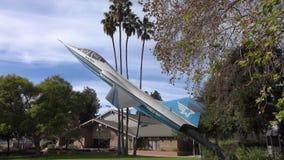 在显示的F-104 Starfighter喷气机在柏本克,加州 股票录像